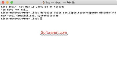 disable shadow screen capture mac