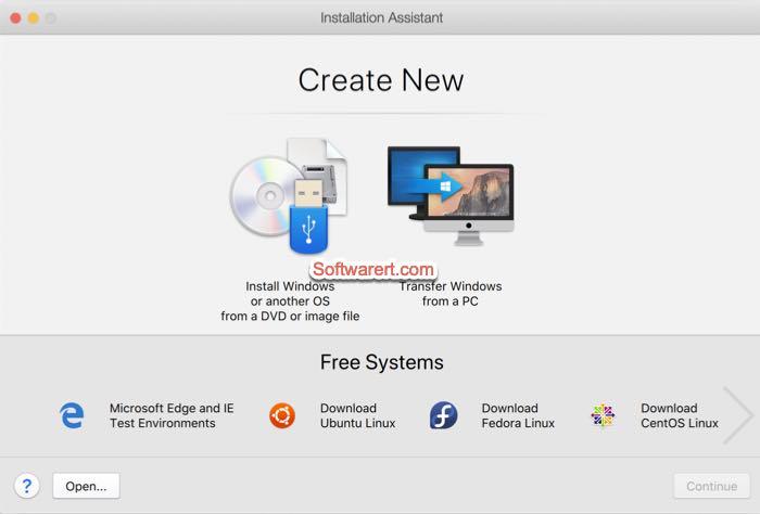 Parallels Desktop for Mac installation assistant
