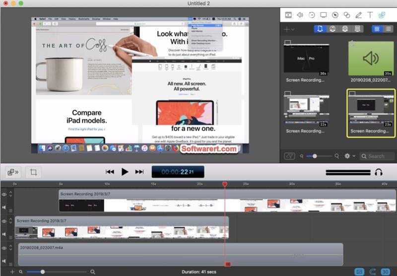 ScreenFlow for Mac: screen video recording, editing tool