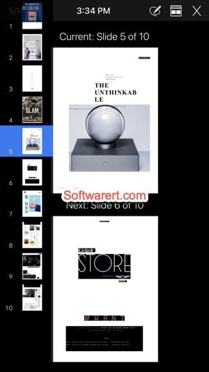 iPhone keynote slideshow presentations remote control