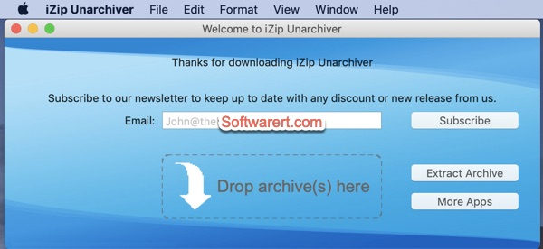 iZip Unarchiver for Mac