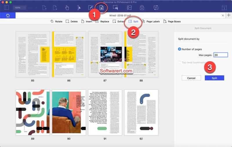 split pdf on Mac using pdf element