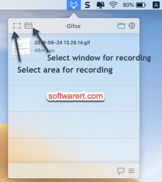 gifox record screen into gif on mac