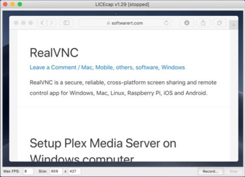 record screen as gif on Mac using licecap