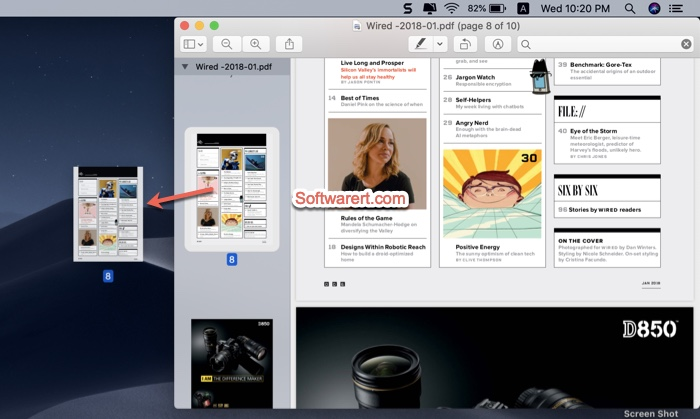 Drag and drop to export PDF pages on Mac