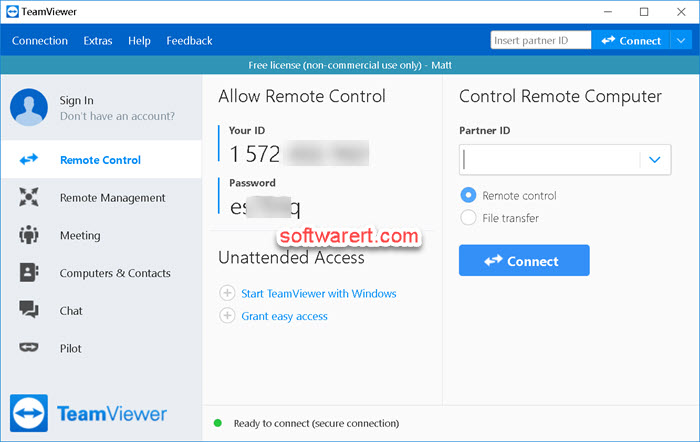 TeamViewer Remote Control for Windows