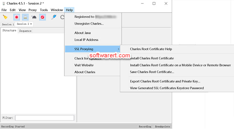 Charles proxy for windows  SSL Proxying install Charles Root Certificate