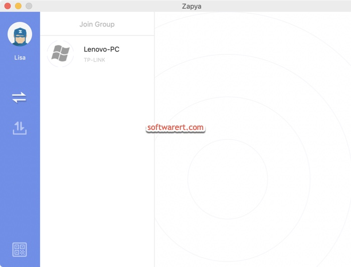 zapya for Mac to connect windows PC
