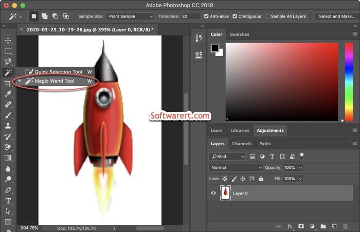 photoshop cc for Mac Magic Wand Tool and settings