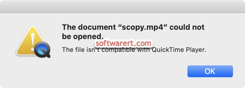 QuickTime Player can't open or play MP4 on Mac?