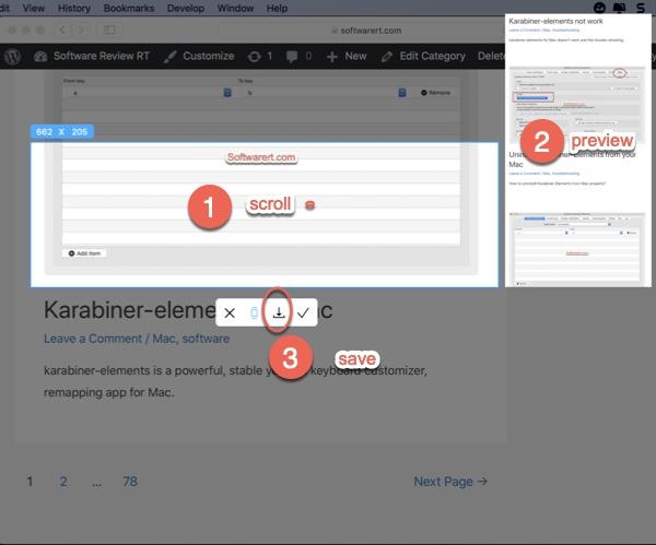 take scrolling screenshot, capture long web page ishot mac