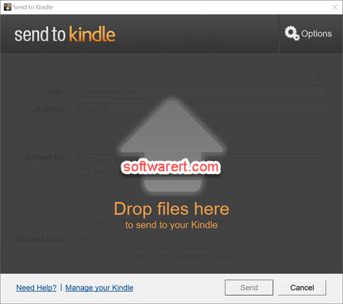 Send to Kindle for windows - drag and drop files from pc to send to kindle, iphone, android