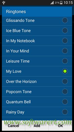 download new samsung ringtone over the horizon