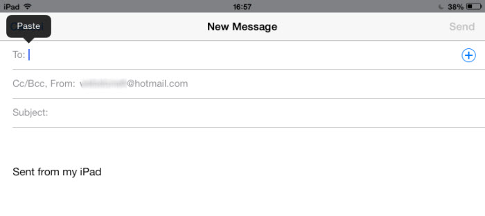 add email contact group to mail recipient in ios