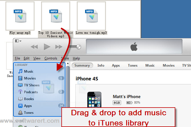 Transfer Music from Computer to iPhone iPad iPod