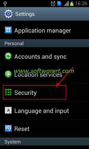 android mobile security settings