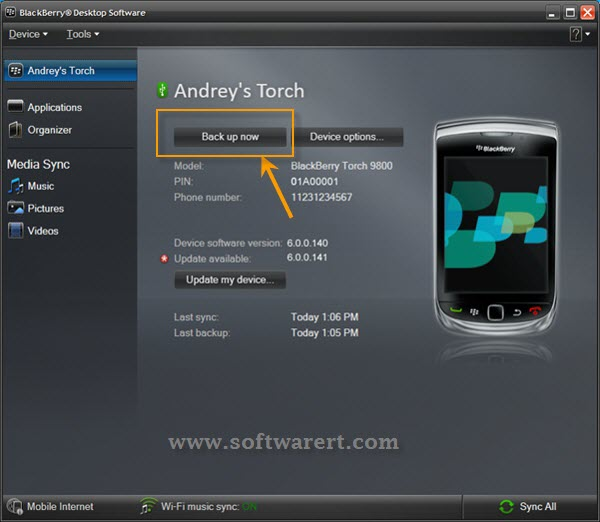 backup blackberry contacts to computer
