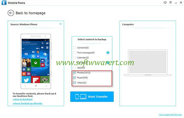 backup windows phone to computer mobile transfer