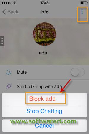 block people in Kik for iphone