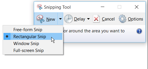 windows 10 snippet tool