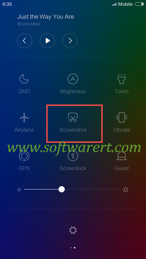 another way to capture screen on xiaomi redmi mobile phone