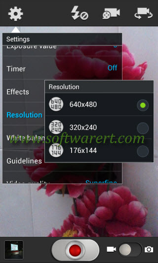 change video resolution and aspect ratio on samsung mobile phone