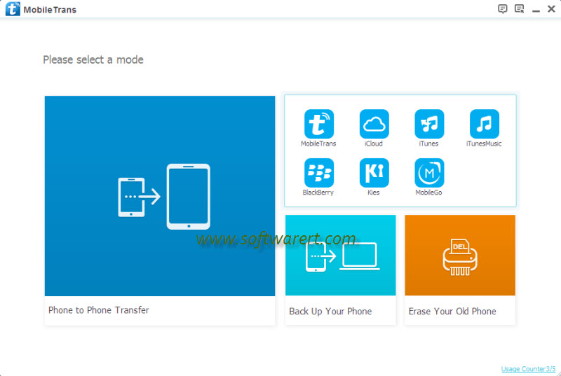 choose backup files to restore to cellphone within mobile transfer