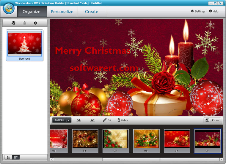 christmas photo slideshow video maker