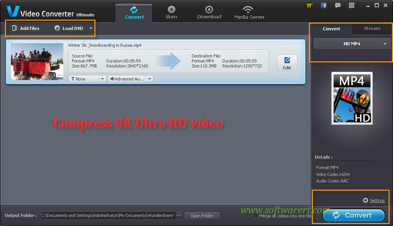 compress 4k uhd video