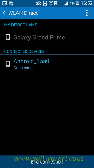 connect samsung android phones via wifi direct