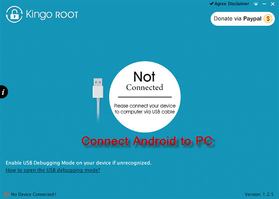 connect samsung phone to computer in android rooting