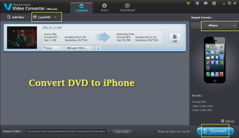 convert dvd to iphone