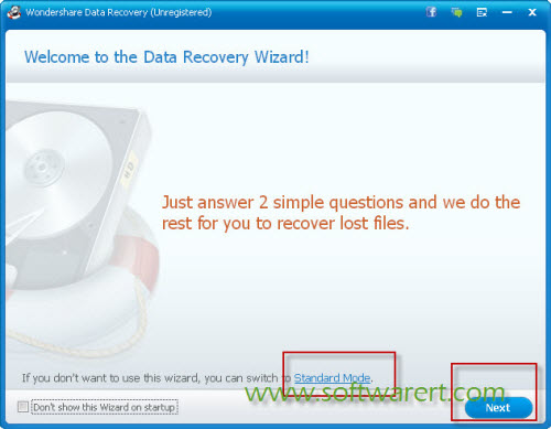 data recovery software wizard