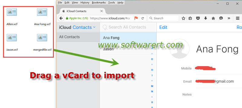 import vcard to icloud