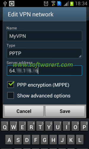 edit vpn network on samsung phone