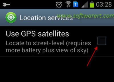enable disable location services on samsung mobile