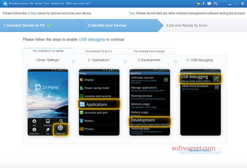 enable usb debugging for android data recovery