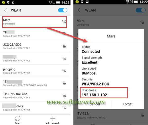 Find IP Address on Lenovo mobile phone