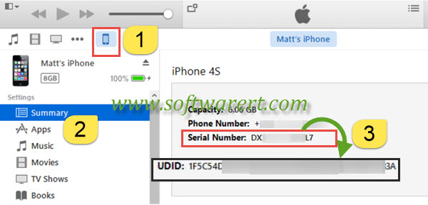 How to find iPhone Unique Device Identifier (UDID)?