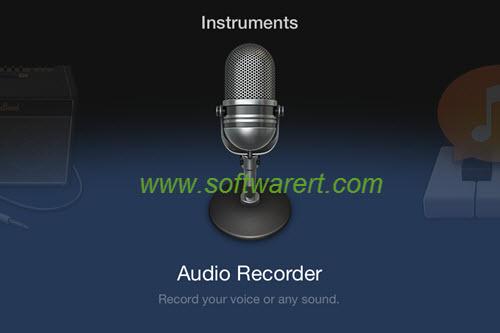 free audio recorder on iphone - garageband instruments
