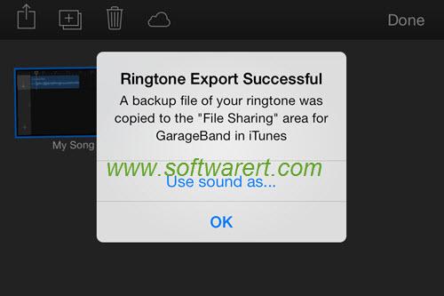garageband use ringtones on iphone