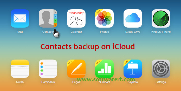 access contacts backup in iCloud account from web