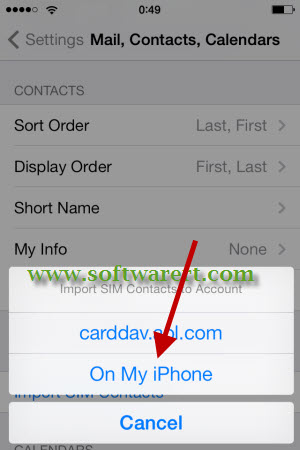 import contacts from sim card to iphone
