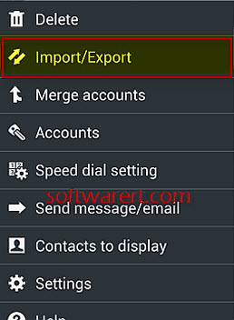import export contacts on android phone