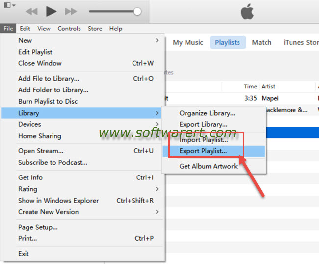 import export itunes playlist on windows PC
