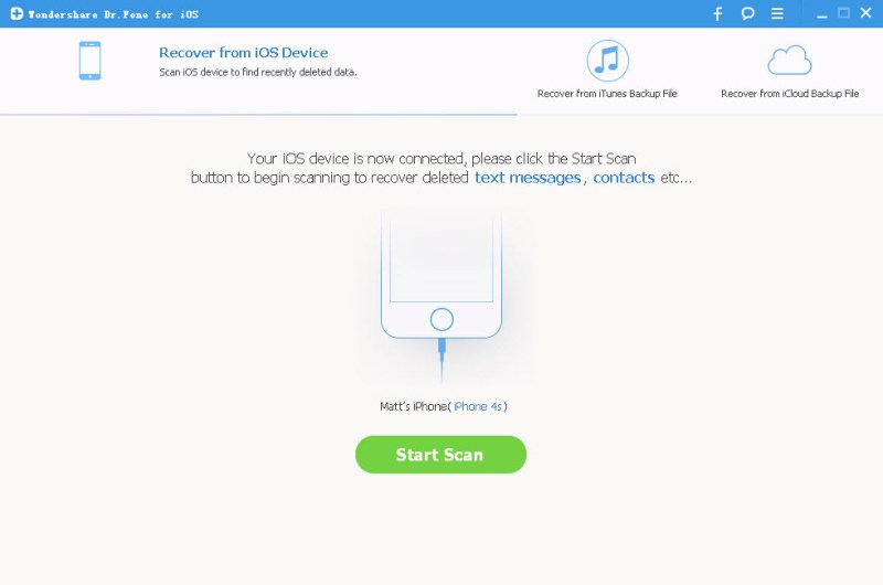ios data recovery tool to scan iphone ipad