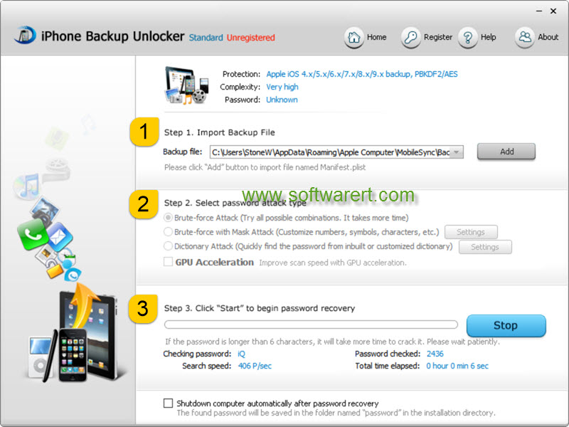 free itunes backup password recovery