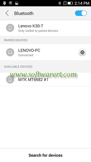 lenovo phone and pc are connected via bluetooth