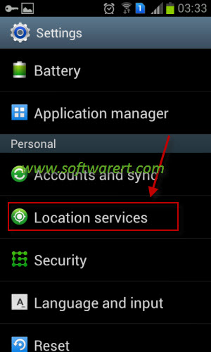 location services settings on samsung mobile phone