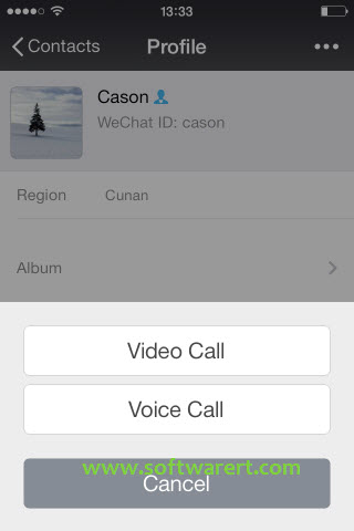 make free video calls and voice calls through wechat for iphone